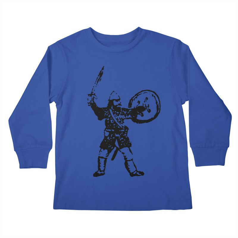 RPG Dwarf Attack Kids Longsleeve T-Shirt by megatrip's Artist Shop