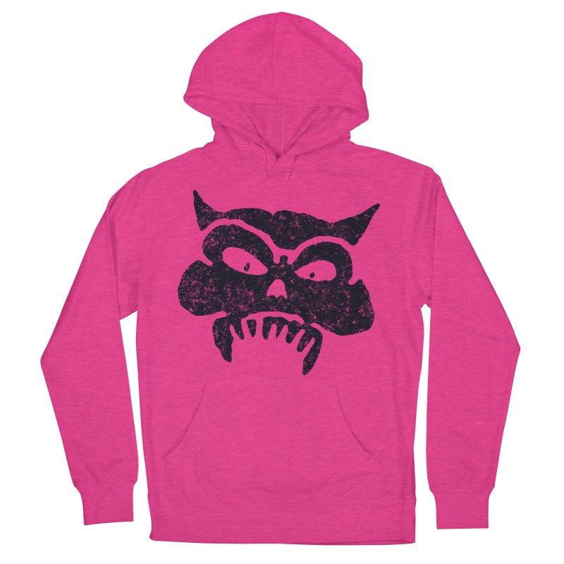 Battered Demon Skull v1 Women's Pullover Hoody by megatrip's Artist Shop