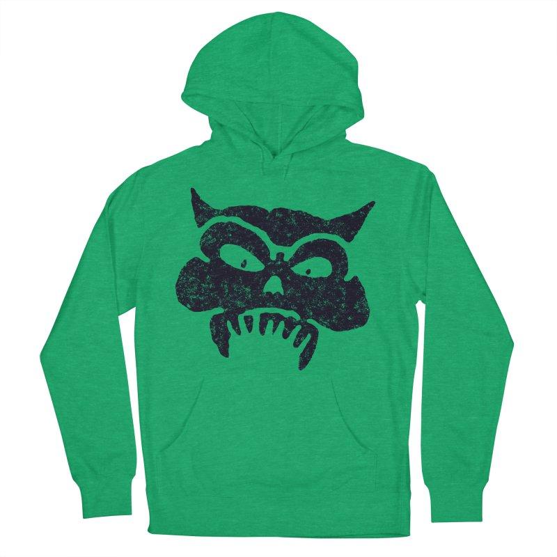Battered Demon Skull v1 Men's Pullover Hoody by megatrip's Artist Shop