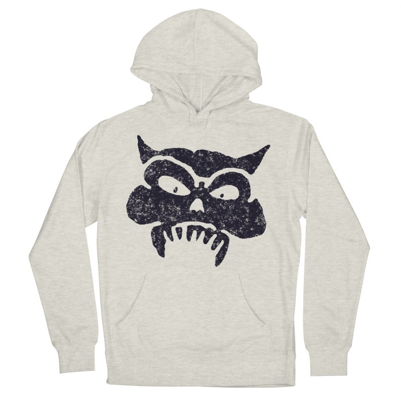 Battered Demon Skull v1 Men's Pullover Hoody by megatrip's Artist Shop