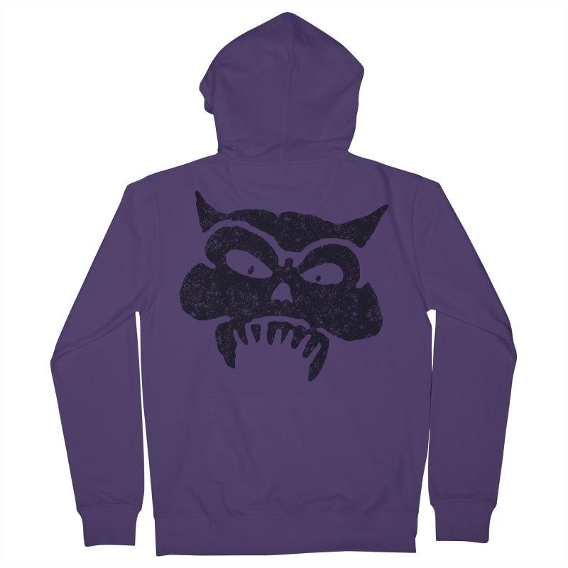 Battered Demon Skull v1 Women's Zip-Up Hoody by megatrip's Artist Shop