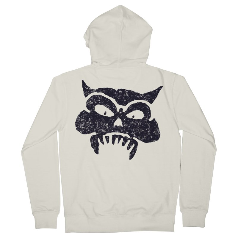 Battered Demon Skull v1 Men's Zip-Up Hoody by megatrip's Artist Shop