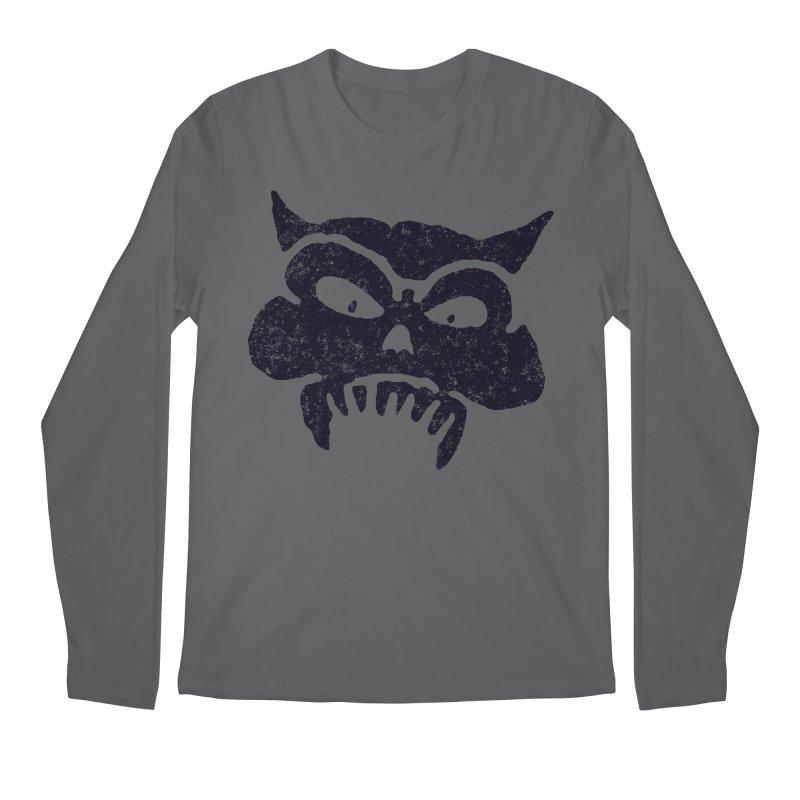 Battered Demon Skull v1 Men's Longsleeve T-Shirt by megatrip's Artist Shop