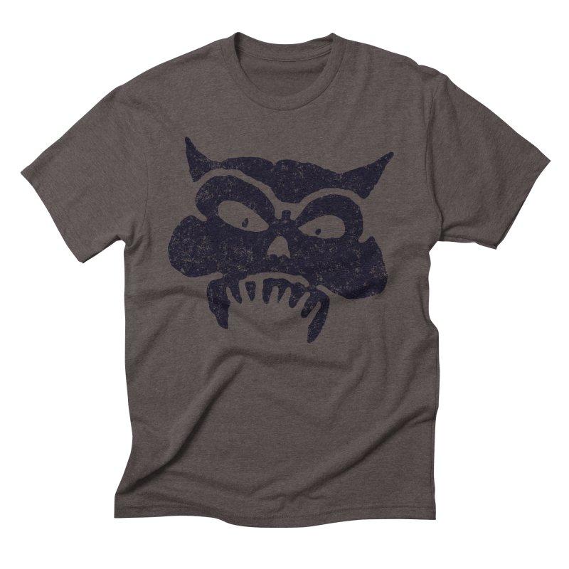 Battered Demon Skull v1 Men's Triblend T-shirt by megatrip's Artist Shop