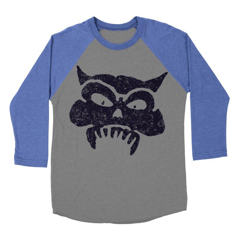 Battered Demon Skull v1 Men's Baseball Triblend T-Shirt by megatrip's Artist Shop