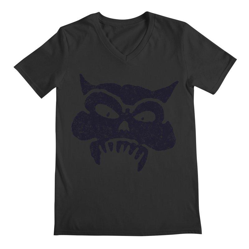 Battered Demon Skull v1 Men's V-Neck by megatrip's Artist Shop