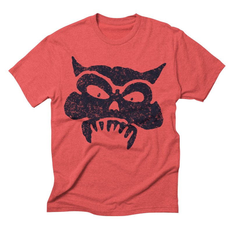Battered Demon Skull v1 Men's Triblend T-shirt by megatrip's Artist Shop