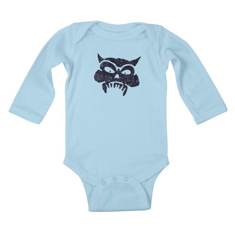 Battered Demon Skull v1 Kids Baby Longsleeve Bodysuit by megatrip's Artist Shop