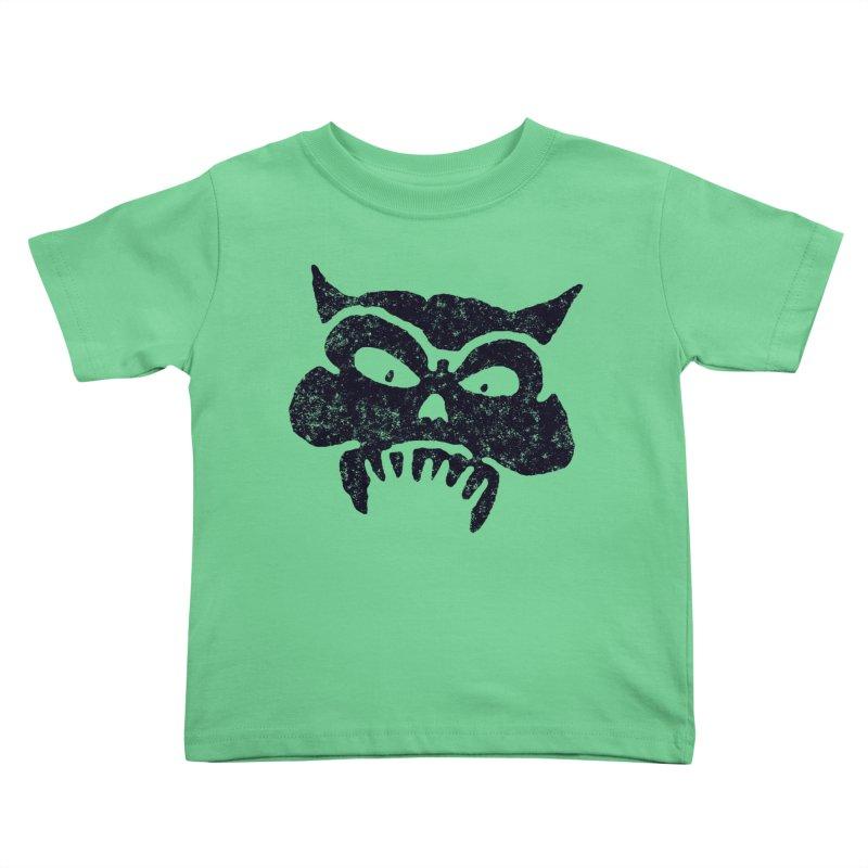 Battered Demon Skull v1 Kids Toddler T-Shirt by megatrip's Artist Shop