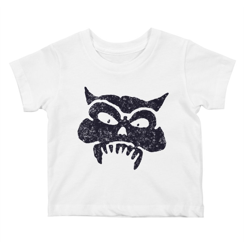 Battered Demon Skull v1 Kids Baby T-Shirt by megatrip's Artist Shop
