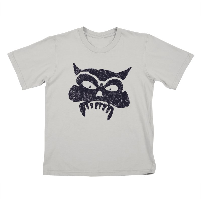 Battered Demon Skull v1 Kids T-shirt by megatrip's Artist Shop