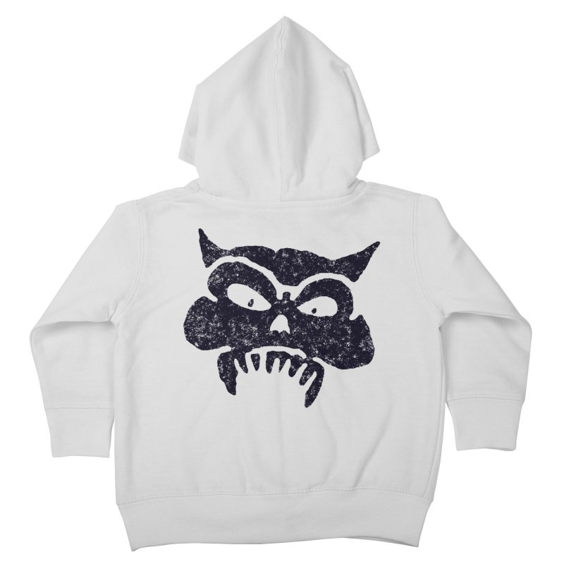 Battered Demon Skull v1 Kids Toddler Zip-Up Hoody by megatrip's Artist Shop