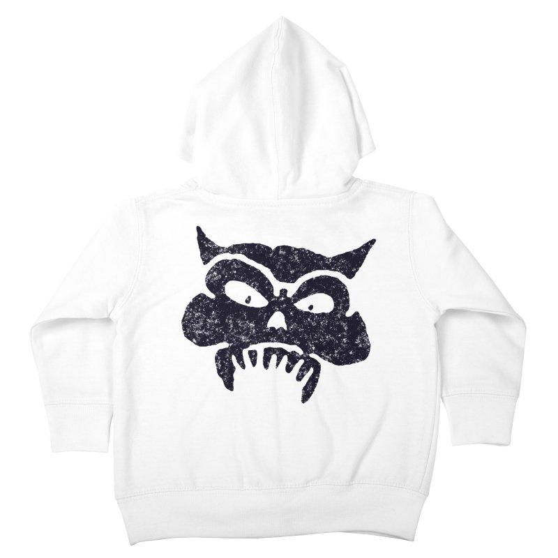 Battered Demon Skull v1 Kids Toddler Zip-Up Hoody by megatrip's Artist Shop