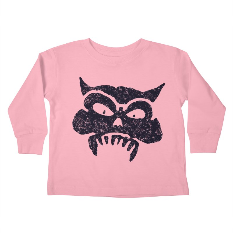 Battered Demon Skull v1 Kids Toddler Longsleeve T-Shirt by megatrip's Artist Shop