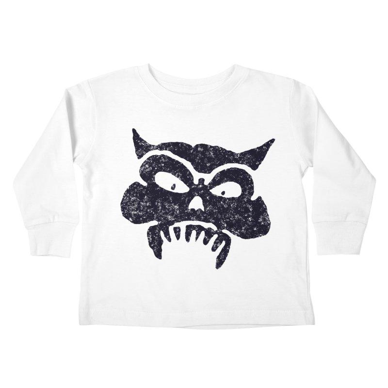 Battered Demon Skull v1 Kids Toddler Longsleeve T-Shirt by megatrip's Artist Shop