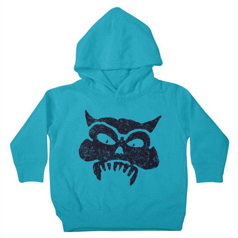 Battered Demon Skull v1 Kids Toddler Pullover Hoody by megatrip's Artist Shop
