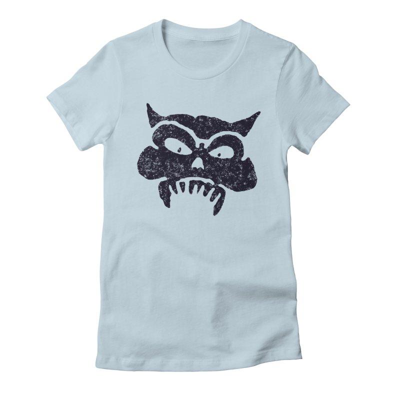 Battered Demon Skull v1 Women's Fitted T-Shirt by megatrip's Artist Shop