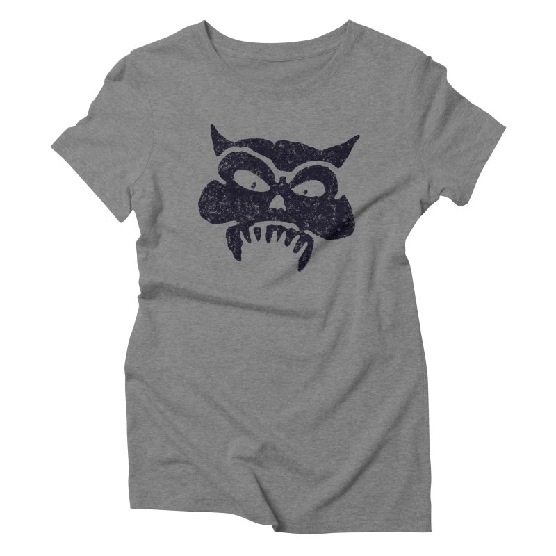 Battered Demon Skull v1 Women's Triblend T-shirt by megatrip's Artist Shop