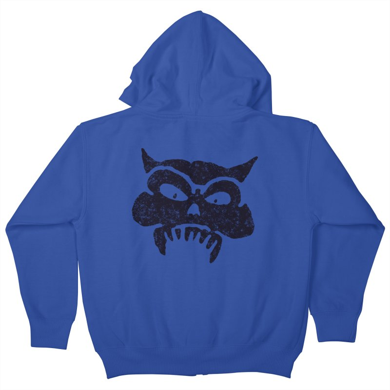 Battered Demon Skull v1 Kids Zip-Up Hoody by megatrip's Artist Shop