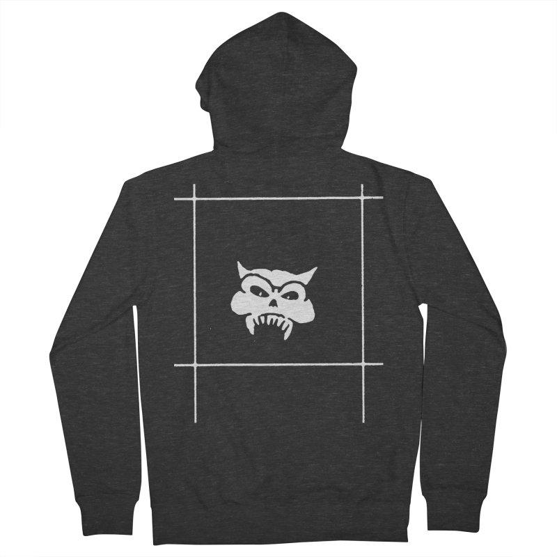 Battered Demon Skull v2 Men's Zip-Up Hoody by megatrip's Artist Shop