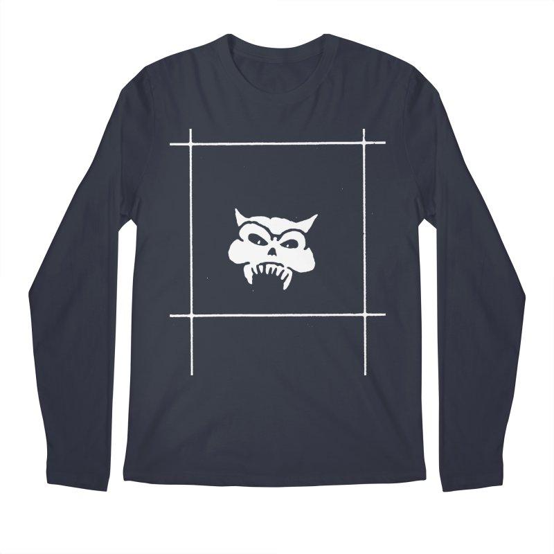 Battered Demon Skull v2 Men's Longsleeve T-Shirt by megatrip's Artist Shop