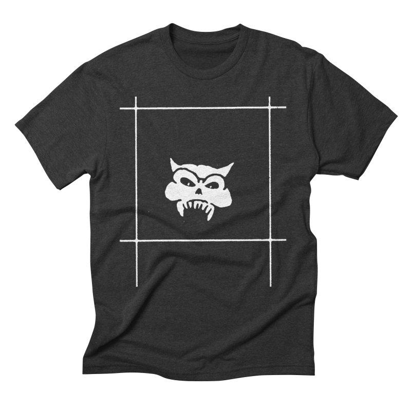 Battered Demon Skull v2 Men's Triblend T-shirt by megatrip's Artist Shop