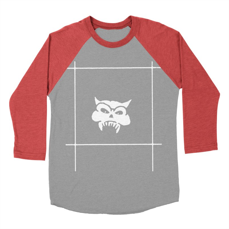 Battered Demon Skull v2 Women's Baseball Triblend T-Shirt by megatrip's Artist Shop