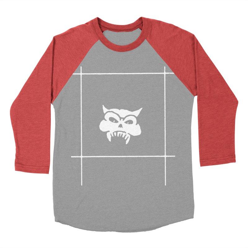 Battered Demon Skull v2 Men's Baseball Triblend T-Shirt by megatrip's Artist Shop