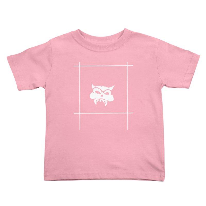 Battered Demon Skull v2 Kids Toddler T-Shirt by megatrip's Artist Shop