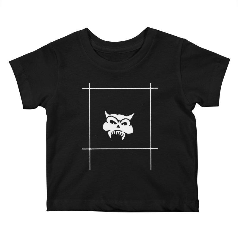 Battered Demon Skull v2 Kids Baby T-Shirt by megatrip's Artist Shop