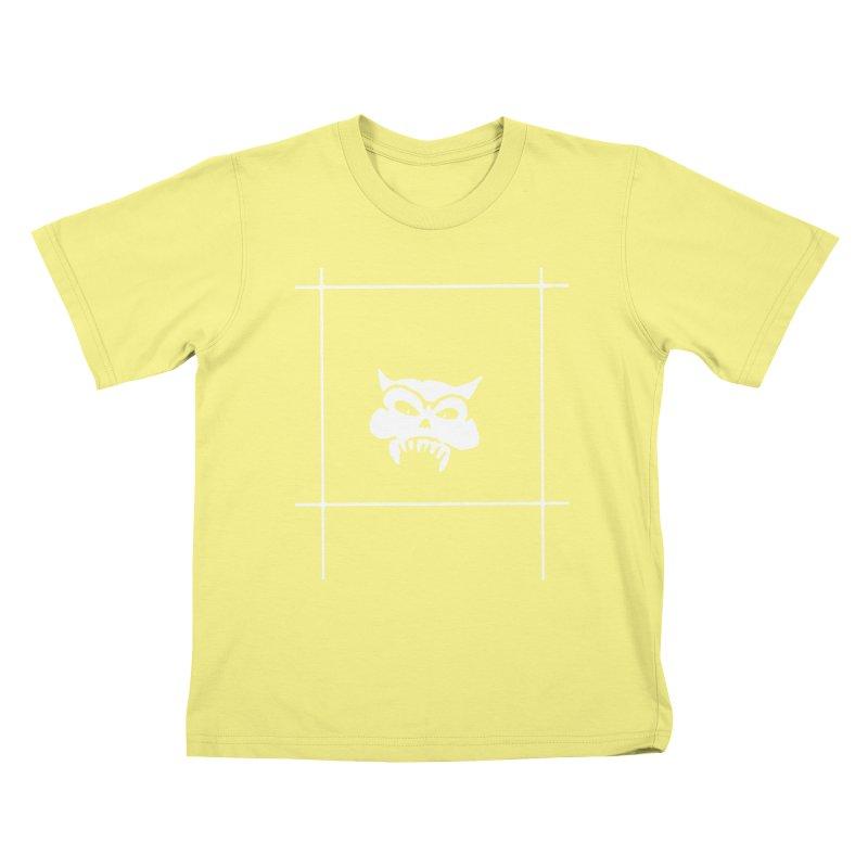 Battered Demon Skull v2 Kids T-shirt by megatrip's Artist Shop