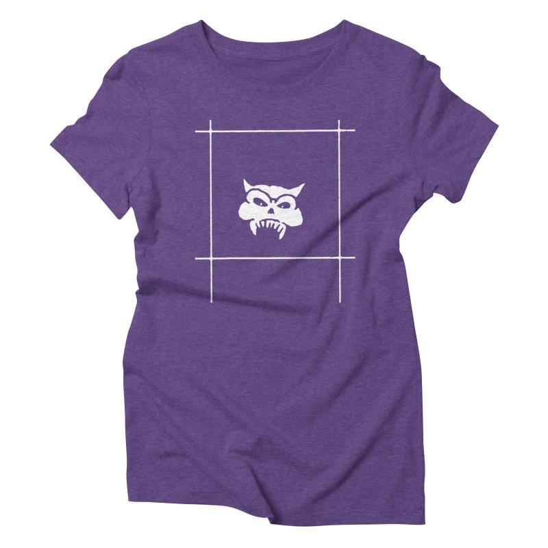 Battered Demon Skull v2 Women's Triblend T-shirt by megatrip's Artist Shop