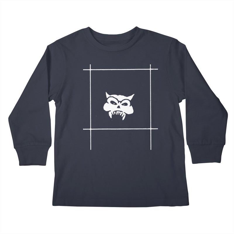 Battered Demon Skull v2 Kids Longsleeve T-Shirt by megatrip's Artist Shop