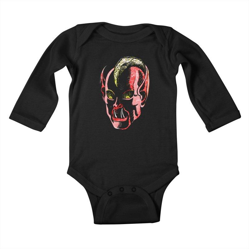 Haunted Head v1 Kids Baby Longsleeve Bodysuit by megatrip's Artist Shop