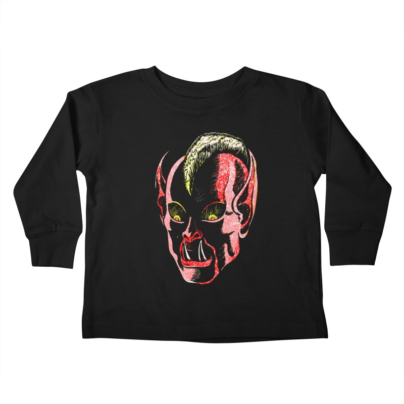 Haunted Head v1 Kids Toddler Longsleeve T-Shirt by megatrip's Artist Shop
