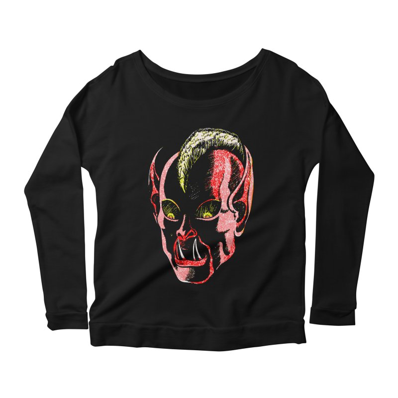 Haunted Head v1 Women's Longsleeve Scoopneck  by megatrip's Artist Shop