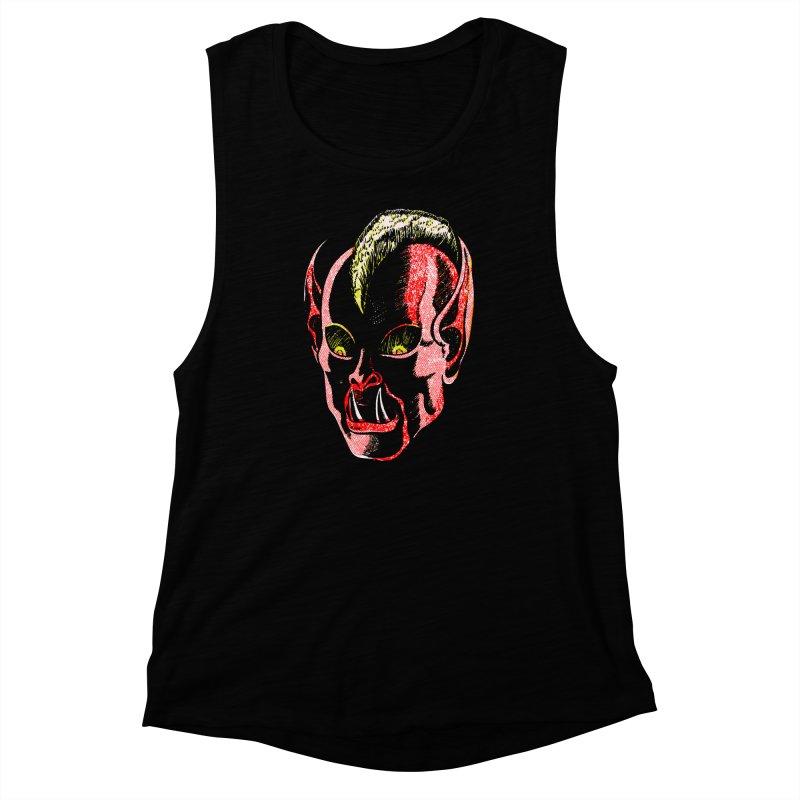Haunted Head v1 Women's Muscle Tank by megatrip's Artist Shop