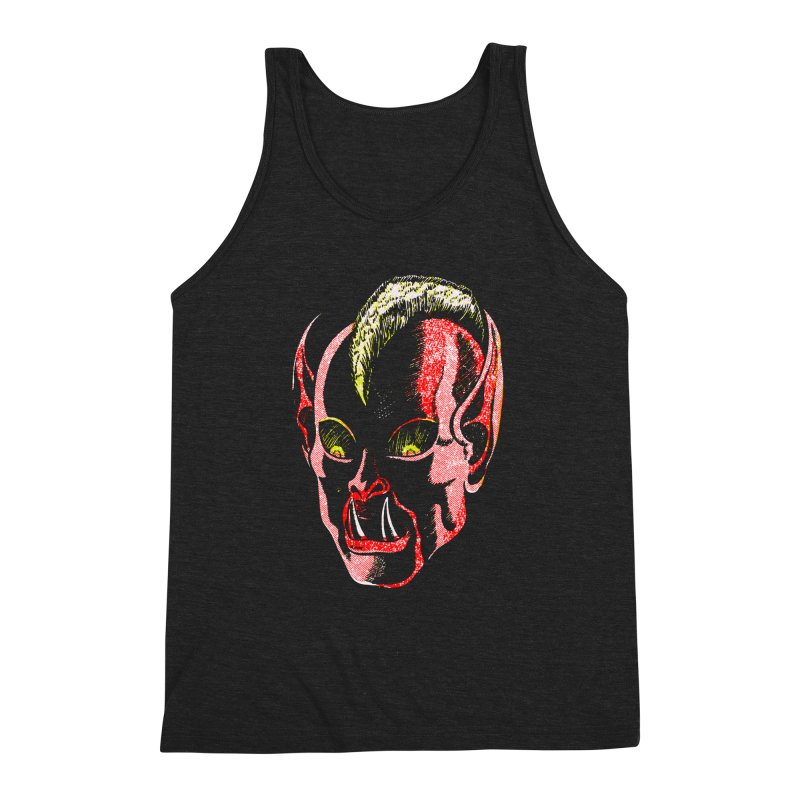 Haunted Head v1 Men's Triblend Tank by megatrip's Artist Shop