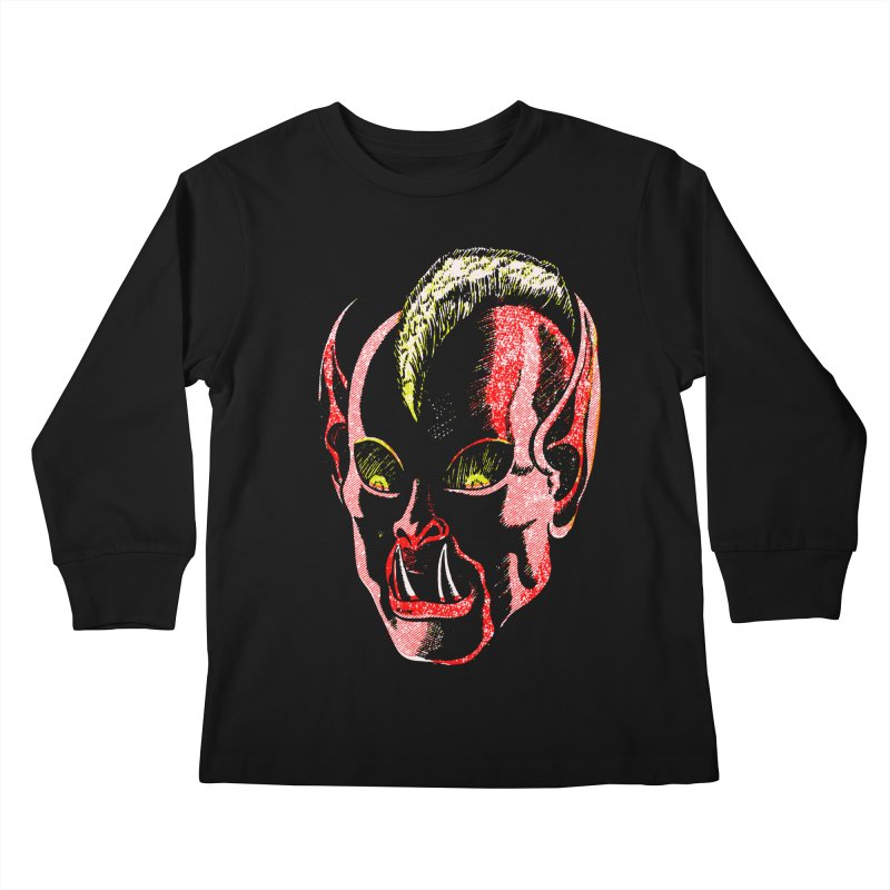 Haunted Head v1 Kids Longsleeve T-Shirt by megatrip's Artist Shop
