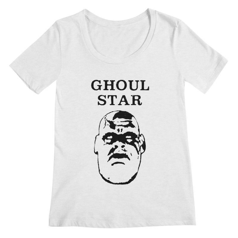 Ghoul Star Women's Scoopneck by megatrip's Artist Shop