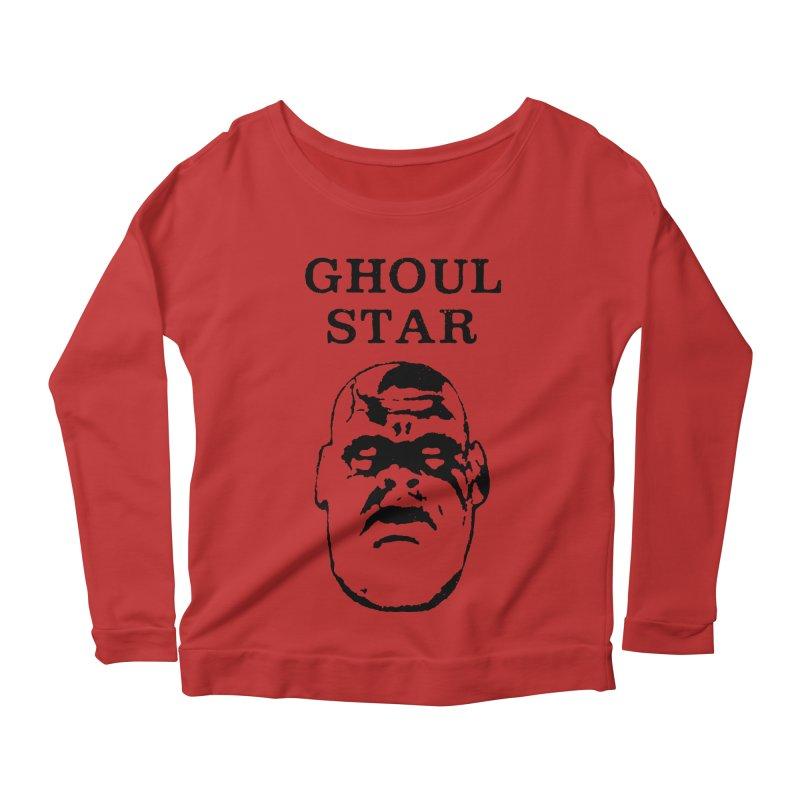 Ghoul Star Women's Longsleeve Scoopneck  by megatrip's Artist Shop