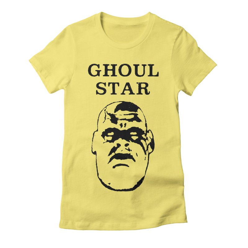 Ghoul Star Women's Fitted T-Shirt by megatrip's Artist Shop