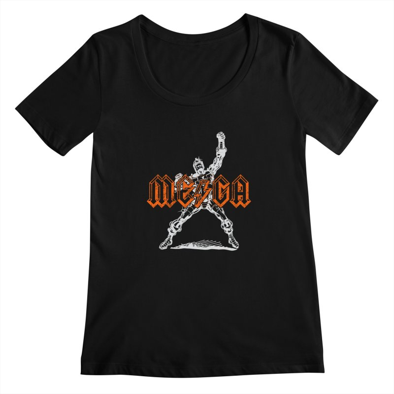 Mega-Punk Robot Women's Scoopneck by megatrip's Artist Shop