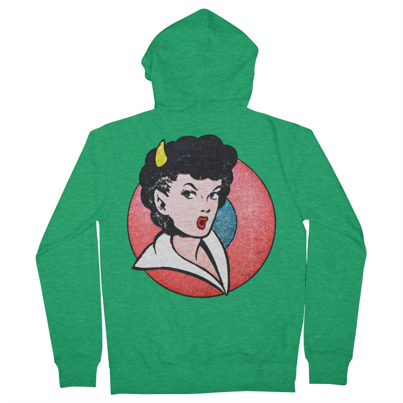 Devil Girl Women's Zip-Up Hoody by megatrip's Artist Shop