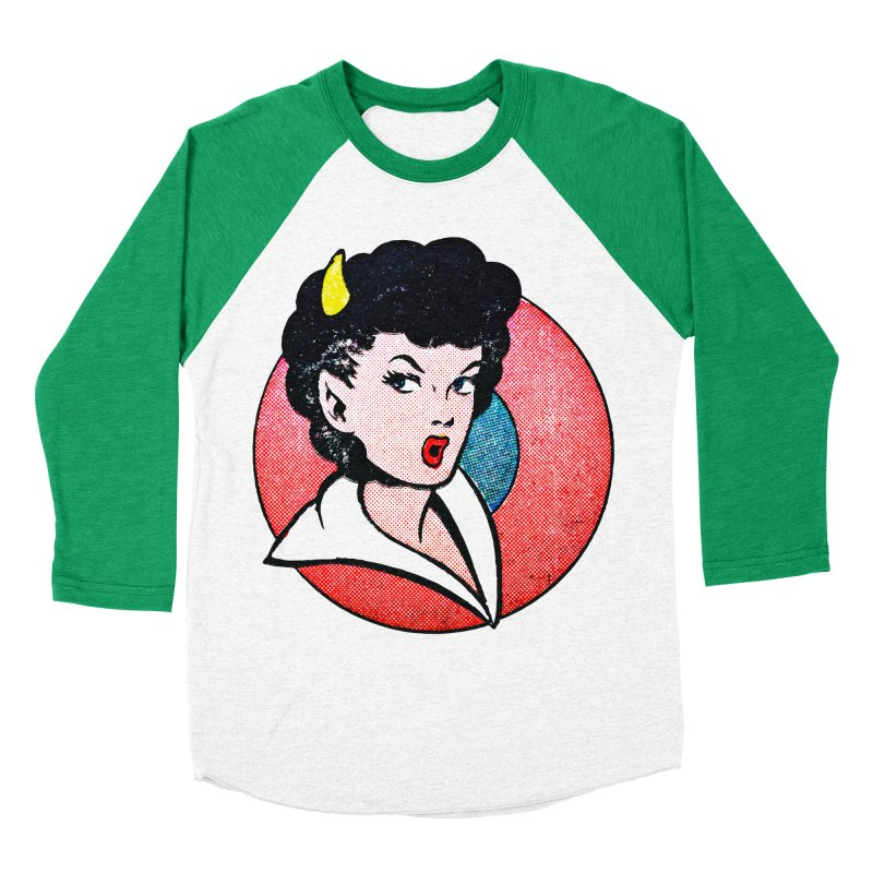 Devil Girl Women's Baseball Triblend T-Shirt by megatrip's Artist Shop