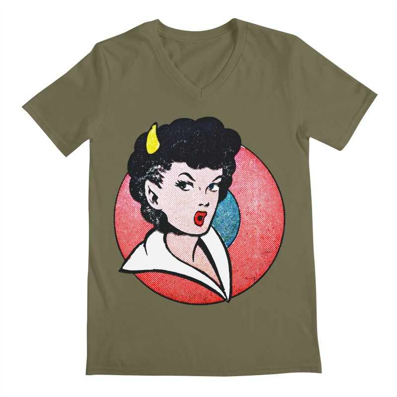 Devil Girl Men's V-Neck by megatrip's Artist Shop