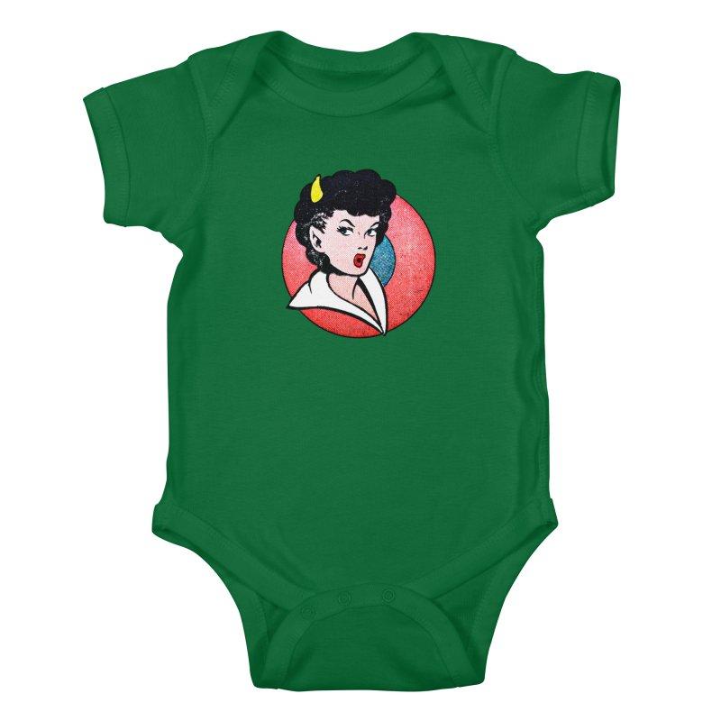 Devil Girl Kids Baby Bodysuit by megatrip's Artist Shop
