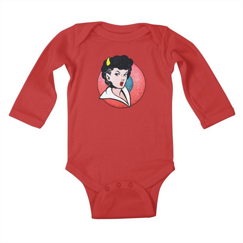 Devil Girl Kids Baby Longsleeve Bodysuit by megatrip's Artist Shop