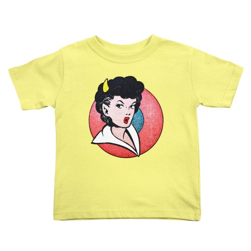 Devil Girl Kids Toddler T-Shirt by megatrip's Artist Shop