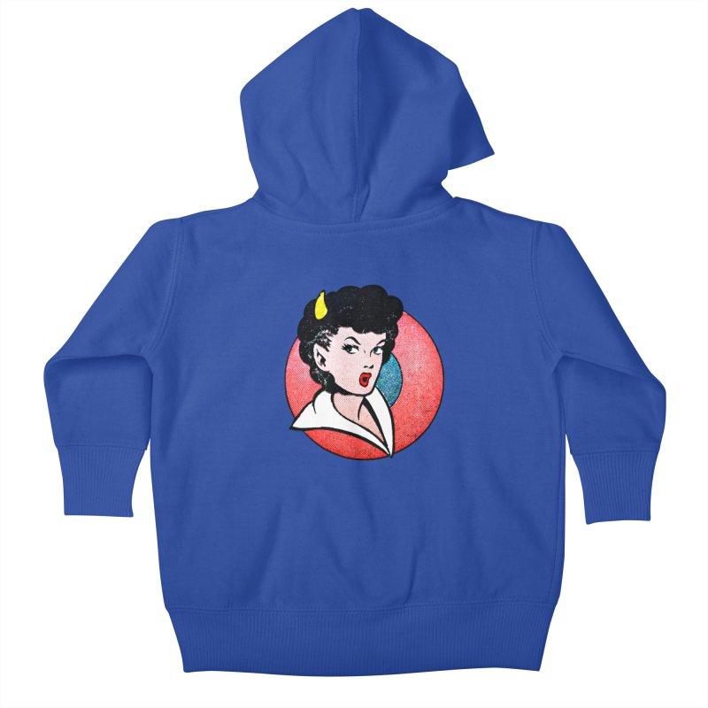 Devil Girl Kids Baby Zip-Up Hoody by megatrip's Artist Shop
